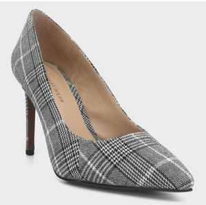 Plaid Pointed Toe Pumps Heels